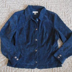 Christopher Navy Blue Large Corduroy Button Shirt